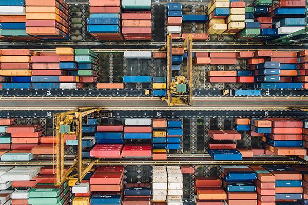 Vista de containers desde arriba