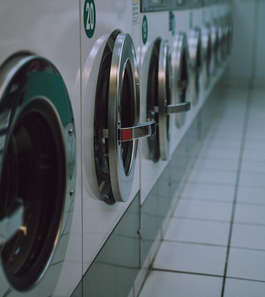 Lavadoras en fila